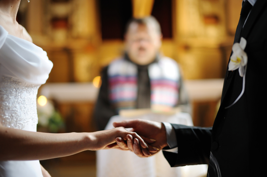 Bride and groom choose wedding officiant