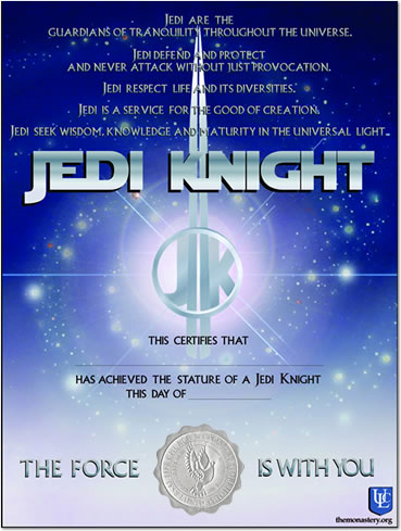Minister products universal life church become a minister for Jedi knight certificate