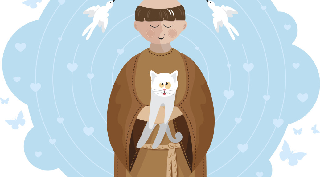 St. Francis of Assisi is the Catholic patron saint of animals.