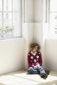 Young woman suffering from loneliness