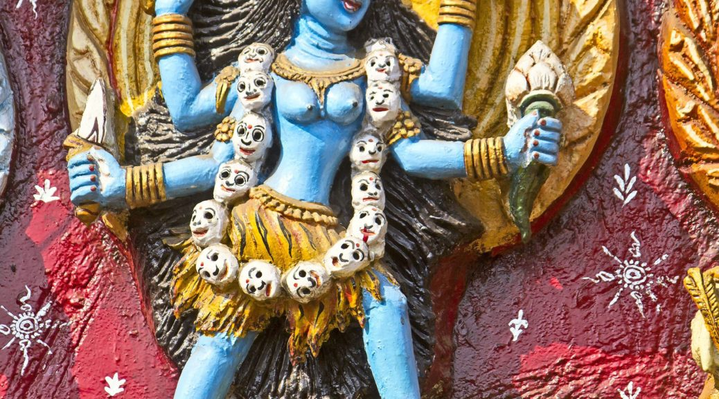 Additional arms of the Hindu goddess Kali help to represent her many facets as destroyer and life-giver.