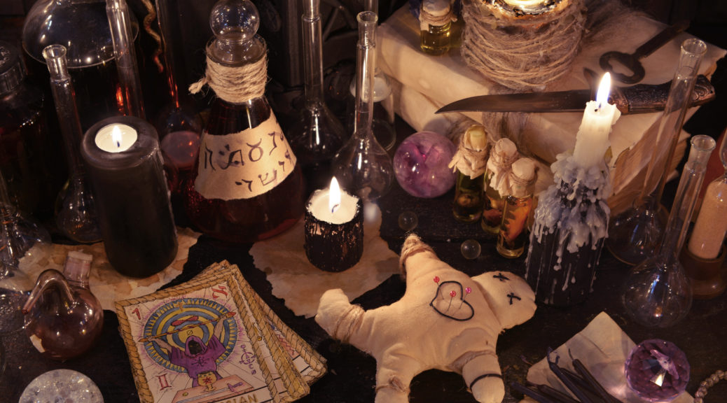 Voodoo blends of African and European religious influences